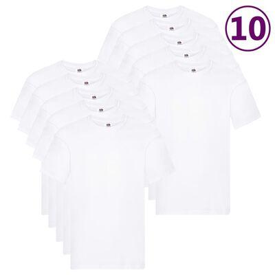 Fruit of the Loom T-shirts Original 10 st XXL katoen wit