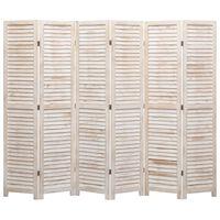 vidaXL Kamerscherm met 6 panelen 210x165 cm hout