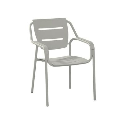 4 Seasons Outdoor Eco stapelbare dining stoel grijs