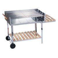 Bbq Collection - Barbecue - Met Wielen - Rvs - 2 Roosters