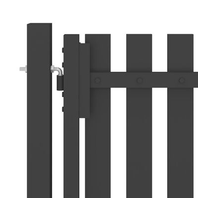 vidaXL Poort 4x2,5 m staal antraciet