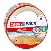 1x Tesa verpakkingstape transparant 66 mtr x 38 mm - Klusmateriaal -