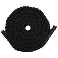 vidaXL Battle rope 15 m polyester zwart