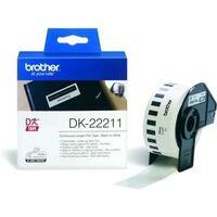 Brother DK-22211 Etiket Zwart op wit (29  mm)