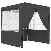 vidaXL Partytent met wanden professioneel 90 g/m² 2,5x2,5 m antraciet
