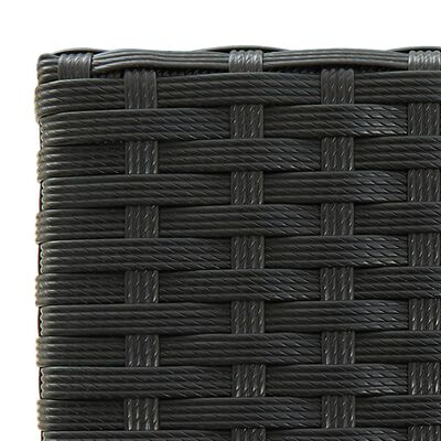 vidaXL 3-delige Tuinbarset zwart