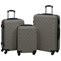 vidaXL 3-delige Harde kofferset ABS antraciet