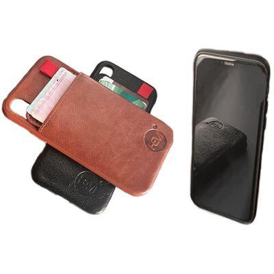 Hem - Iphone 12  Pro - Luxe Lederen Back Cover Zwart- Telefoonhoesje /
