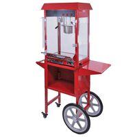 KuKoo Popcorn Machine & Kar/Onderstel - Retro look - Grote 235ml pan -