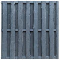 vidaXL Schuttingpaneel verspringend 180x180 cm grenenhout grijs