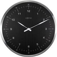 Wandklok NeXtime 60 minutes Ø33 metaal zwart