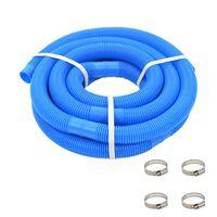 vidaXL Zwembadslang met klemmen 38 mm 6 m blauw
