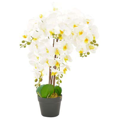 vidaXL Kunstplant met pot orchidee 60 cm wit