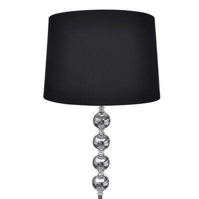 vidaXL Vloerlamp Eleganza zwart