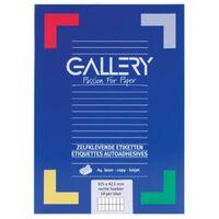Gallery witte etiketten ft 105 x 42,3 mm (b x h), rechte hoeken, do...