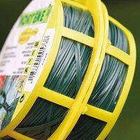 Bindband groen met metalen kern geplastificeerd 100m