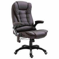 vidaXL Massage kantoorstoel kunstleer bruin