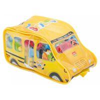 Diakakis bouwblokken schoolbus 44-delig