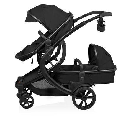 Baninni Tweeling kinder-/wandelwagen Doppy zwart BNST030-BK