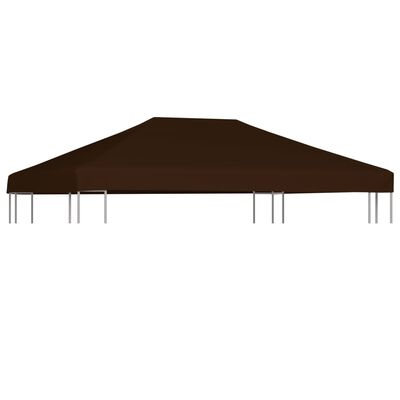 vidaXL Prieeldak 310 g/m² 3x4 m bruin