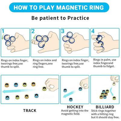 Fidget Toys Magnetische Ringen 3-pack Rood