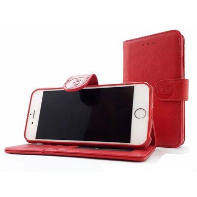 Samsung Galaxy S21 Ultra - Burned Red Leren Portemonnee Hoesje -