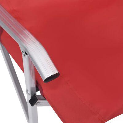 vidaXL Campingstoelen inklapbaar 2 st rood