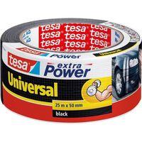 1x Tesa ducttape Extra Power universeel zwart 25 mtr x 5 cm -