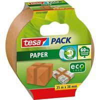 1x Tesa papieren verpakkingstape bruin 25 mtr x 38 mm -