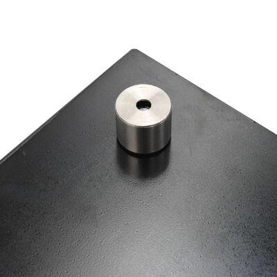 vidaXL Spatscherm keuken 70x40 cm gehard glas zwart