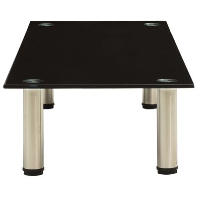 vidaXL Tv-meubel 100x35x17 cm gehard glas zwart