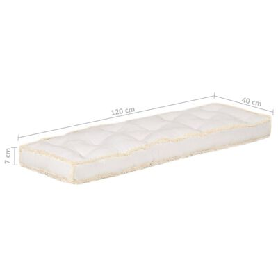vidaXL Bankkussen pallet 120x40x7 cm beige