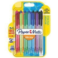 Paper Mate balpen InkJoy 100 RT, blister 15 + 5 gratis,