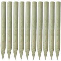 vidaXL Schuttingpalen 10 st 100 cm hout