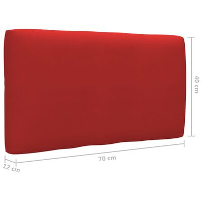 vidaXL Bankkussen pallet 70x40x12 cm rood