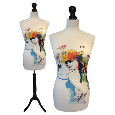 Fashion Paspop Met Zwarte Sparkling Driepoot Maat 44/46
