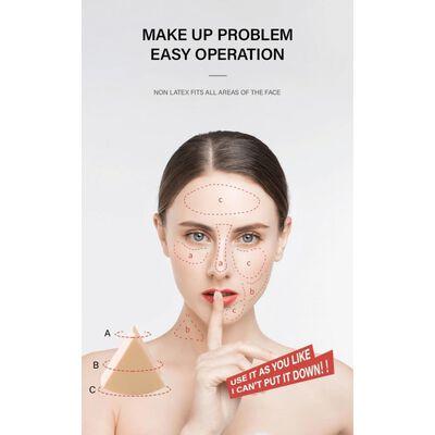 Make-up Sponsjes 6 Stuks Geel / Wit