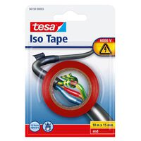 1x Tesa isolatietape rol rood 10 mtr x 1,5 cm - Klusbenodigdheden -