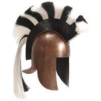 vidaXL Soldatenhelm Grieks replica LARP staal koperkleurig