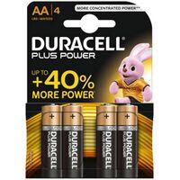 Duracell Plus Power AA Batterij, LR6, Niet Oplaadbaar, 4 Stuks