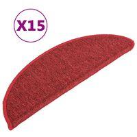 vidaXL Trapmatten 15 st 56x17x3 cm rood
