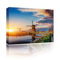 Sound Art Canvas + Bluetooth Speaker Dutch Windmill