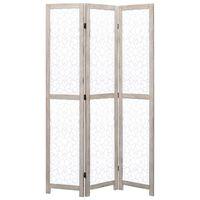 vidaXL Kamerscherm met 3 panelen 105x165 cm massief hout wit