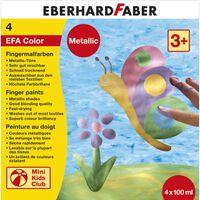 Eberhard Faber Vingerverfset EFA metallic set 4 x 100ml assorti