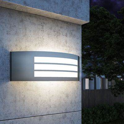 vidaXL Tuinwandlamp roestvrij staal