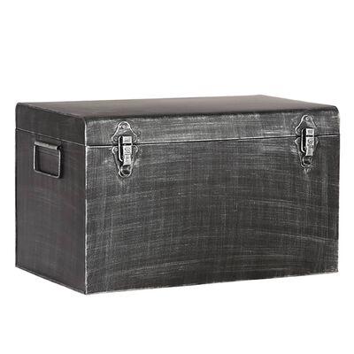 LABEL51 Opbergbox Vintage XL 60x40x35 cm antiekzwart