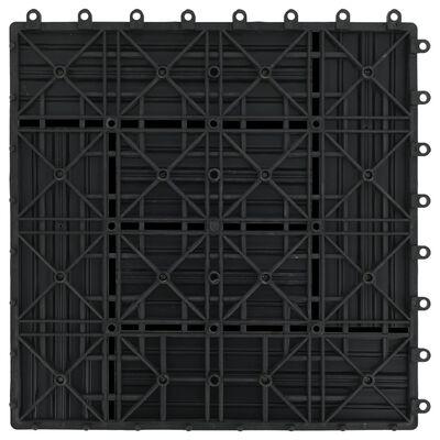 vidaXL 22 st Terrastegels 30x30 cm 2 m² HKC zwart