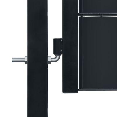 vidaXL Poort 100x124 cm PVC en staal antracietkleurig