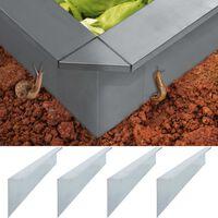 vidaXL Slakkenhek 4 st 170x7x25 cm 0,7 mm gegalvaniseerd staal