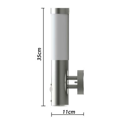 vidaXL Buitenwandlamp met bewegingsdetector roestvrij staal
